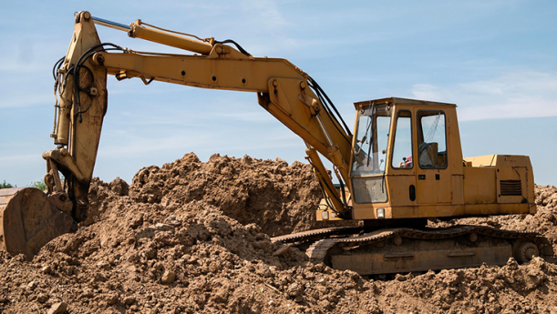 bulldozer digging in dirt