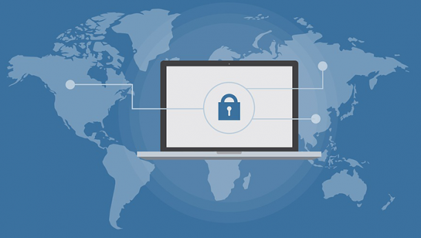 global cyber security illustration