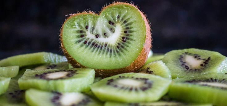 Heart Shaped Kiwi Slices