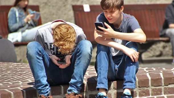 Kids playing Pokemon Go