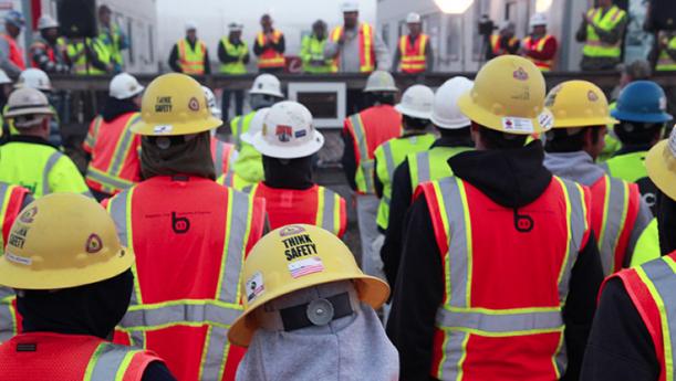 construction crew meeting