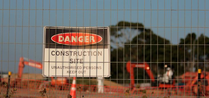 construction site danger warning