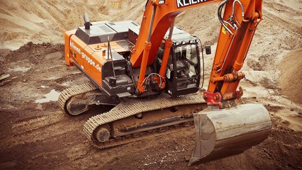 bulldozer digging trench