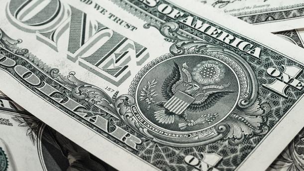 dollar bill close up shot of back