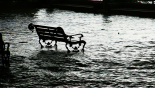 bench during flood