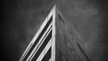 dark office building
